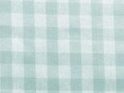 RESTSTÜCK 87 cm beschichtete BW Karo - mint weiss