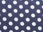 RESTSTÜCK 70 cm beschichtete BW Punkte dunkelblau