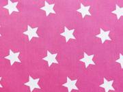 RESTSTÜCK 30 cm beschichtete BW Sterne weiss pink