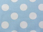 BW Punkte 2,2 cm - weiss auf hellblau