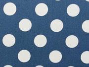 BW Punkte 2,2 cm - weiss auf jeansblau