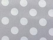 BW Punkte 2,2 cm - weiss auf hellgrau