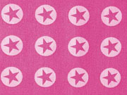 BW Sterne im Kreis 1,8 cm - weiss auf pastellpink