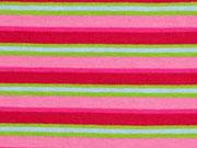 Streifenjersey Multicolor-rosa, pink, hellgrün
