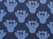 BW Gespenster - jeansblau auf dunkelblau