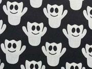 BW Gespenster - creme auf schwarz