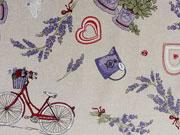 Dekostoff Provence, natur/lila
