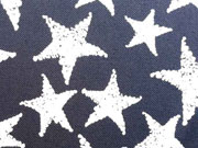 RESTSTÜCK 130 cm Jeansjersey  mit Sternen, dunkelblau