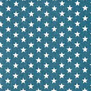 Baumwollstoff kleine Sterne Mini Stars, weiß petrol