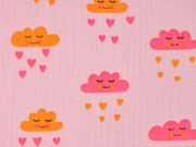 Musselin Double Gauze Wolken, rosa