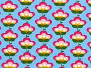 Jersey Retroblumen, pink blau