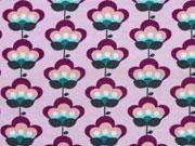 Jersey Retroblumen, lila flieder