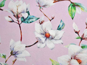 Canvas Blumen Magnolien Digitaldruck, hellrosa