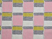 Canvas Farbblöcke kleine Halbkreise, rosa hellgrau