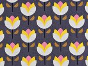 Canvas Tulpen , grau