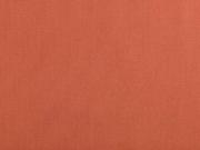 Baumwollstoff uni, terracotta