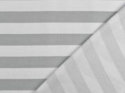 Sweat French Terry Streifen 2,4 cm, weiß hellgrau