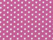 Baumwollstoff kleine Sterne Mini Stars, weiß beere