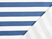 Sweat French Terry Streifen 2,4 cm, weiß jeansblau