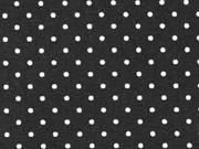 Baumwollstoff kleine Punkte Petite Dots, weiß schwarz