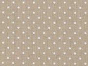 Baumwollstoff kleine Punkte Petite Dots, weiß hellbeige