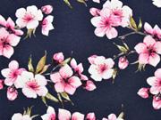 Jersey Kirschblüten, rosa dunkelblau