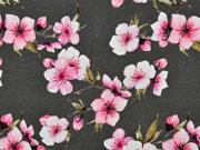 Jersey Kirschblüten, rosa graubraun