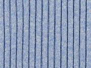Schweres Bündchen gerippt, jeansblau meliert