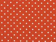 Baumwollstoff kleine Punkte Petite Dots, weiß terracotta