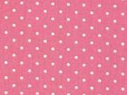 Baumwollstoff kleine Punkte Petite Dots, weiß altrosa