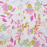 Baumwollstoff Blumen Ranken, pink weiß