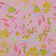 Baumwollstoff Blumen Ranken, pink rosa