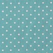 Baumwollstoff kleine Punkte beschichtet Petite Dots, weiß mint