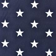 Baumwollstoff Sterne beschichtet Big Stars, weiß dunkelblau
