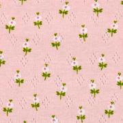 Jerseystoff Blümchen Lochmuster Pointoille, rot grün rosa