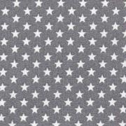 Baumwollstoff kleine Sterne beschichtet Mini Stars, weiß grau