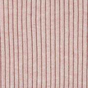 Rippenbündchen Hipster-Beanie Stoff, rosa meliert