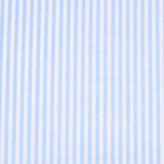 Baumwollstoff Streifen 3 mm garngefärbt, hellblau weiß