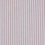 Baumwollstoff Streifen 3 mm garngefärbt, beige weiss