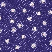 Baumwollstoff Blumen Sternblumen, dunkelblau