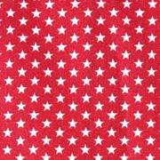 Baumwollstoff kleine Sterne beschichtet Mini Stars, weiß rot