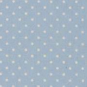 Baumwollstoff kleine Punkte beschichtet Petite Dots, weiß hellblau