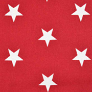 Baumwollstoff große Sterne beschichtet Big Stars, weiß rot