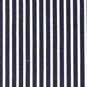 Baumwollstoff schmale Streifen längs beschichtet, weiß dunkelblau