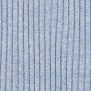 Bündchenstoff gerippt Hipster-Beanie Stoff, hell jeansblau meliert