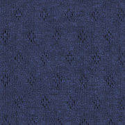 Jerseystoff Lochmuster Pointoille uni, dunkelblau