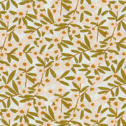Viskose Stoff Blumen Blätter, rosa khakigrün weiß