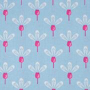 Baumwollstoff Blumen, pink hellblau