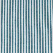 Baumwollstoff Streifen 3 mm garngefärbt, petrol weiß
