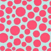 Baumwollstoff Punkte beschichtet, pink mint